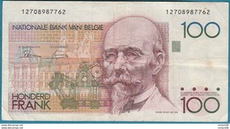 BELGIQUE 100 FRANCS N° 12708987762 - [ 2] 1831-... : Reino De Bélgica