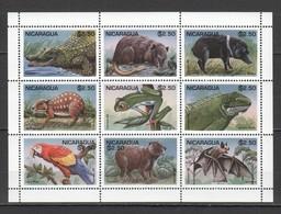 PK202 1995 NICARAGUA FAUNA ANIMALS REPTILES BIRDS 1KB MNH - Timbres