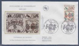 = Guillaume Le Conquérant Enveloppe 1er Jour Rouen 5 9 87 N°2492 Guillaume Et Ses Frères, Tapisserie De Bayeux - FDC
