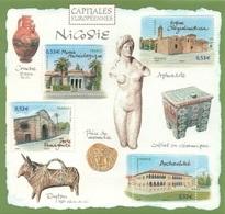FRANCE Bloc  101 ** MNH Capitale Europe Nicosie Chypre église Byzantine Chrysaliniotissa Famagouste Musée - Mint/Hinged