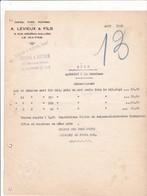 76-A.Levieux & Fils...Cafés, Thés, Poivres, Suze...Importation Directe...Le Havre....(Seine-Maritime)..1929 - Otros