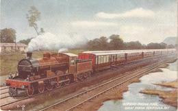 """""""Bombay-Poona Mail Express"""" Tuck Oiette Famous Expresses Ser. PC # 9329 - Tuck, Raphael"""