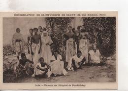 Cpa.Missions.Congrégation De Saint Joseph De Cluny.Un Coin De L'Hôpital De Pondichéry. - Missions