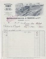76-J.Motte & Cie...Margarine Astra....Yvetot..(Seine-Maritime)..1928 - Alimentaire