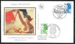 FRANCE 1987 FDC PREMIER JOUR LIBERTÉ  2484 2485 PARIS 01 Août . - 1980-1989