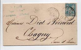 - Boite Rurale CLAIREGOUTTE Via RONCHAMP (Haute-Saône) Pour CHAGNY (Saône-et-Loire) 4 MARS 1891 - - 1877-1920: Semi-moderne Periode