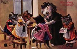 Katze, Katzen Bei Der Handarbeit, 1909 - Thiele, Arthur