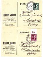 Allemagne - Empire - 2 Cartes Postales De 1936 - Oblit Hamburg - Exp Vers Neusalz - Valeur 28,5 €  ( 25,+ 3,50 ) - Allemagne