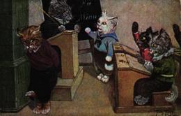 Katze, Katzenschule, Um 1910 - Thiele, Arthur