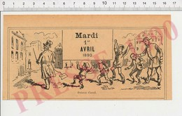 2 Scans Métier Humour Poisson D'Avril Dans Le Dos Punition Tirer L'oreille Enfant Absinthe Vermout Cabaret Ivrogne 229E - Vieux Papiers