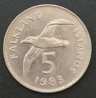 FALKLAND ISLANDS - 5 PENCE 1983 - Elizabeth II - 2eme Effigie; Grand Module - KM 4.1 - ( Îles Malouines ) - Falkland