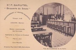 AGADIR BRASSERIE DU SOUSS RESTAURANT DE L'HOTEL GAUTIER VUE DE L'INTERIEUR  ACHAT IMMEDIAT - Agadir