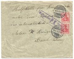 Sk735 - MULHAUSEN - 1915 - Pour Suisse - Censure MULHAUSEN - MULHOUSE - - Marcophilie (Lettres)