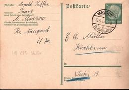 ! 1933 Postkarte Deutsches Reich, Daarz, Stempel Massow Kreis Naugard - Briefe U. Dokumente