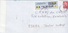 MARIANNE L ENGAGEE ROUGE ADH + COMPLEMENT VIGNETTE SUR LR AR 1 DU 9/2/2019 POUR TOULON - 2018-... Marianne L'Engagée