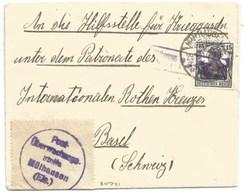 Sk741 - MULHAUSEN - 1917 - Pour Suisse  - Censure MULHAUSEN  - MULHOUSE - - Marcophilie (Lettres)