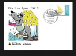 Germany Postal Stationary 2013 Für Den Sport - Used Frankfurt Am Main (G110-10) - Sobres - Usados
