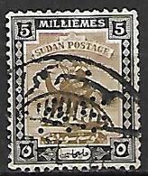 SOUDAN   -   Timbre De Service  -   Méhari Oblitéré,  Perforé AS  /  Perfin  AS. - Soudan (1954-...)
