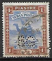 SOUDAN   -   Timbre De Service  -   Méhari Oblitéré,  Perforé SG  /  Perfin  SG. - Soudan (1954-...)