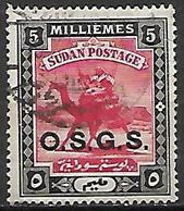 SOUDAN   -   Timbre De Service  -   Méhari Oblitéré, Surchargé O.S.G.S. - Soudan (1954-...)
