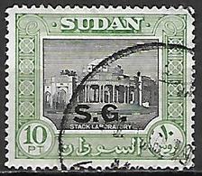 SOUDAN   -   Timbre De Service  -   Stack Laboratoire Oblitéré,  Surchargé S.G. - Soudan (1954-...)