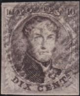 Belgie     .    OBP        .     6      .      O      .       Gebruikt  .   /    .    Oblitéré - 1851-1857 Medaillons (6/8)