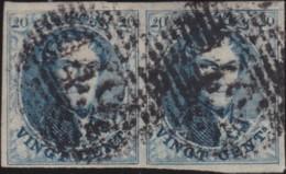 Belgie     .    OBP        .     7  Paar      .      O      .       Gebruikt  .   /    .    Oblitéré - 1851-1857 Medallions (6/8)