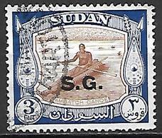 SOUDAN   -   Timbre De Service  -   Canoê Oblitéré,  Surchargé S.G. - Soudan (1954-...)