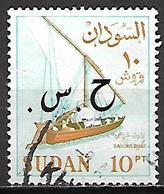 SOUDAN   -   Timbre De Service  -   Voilier Oblitéré,  Surchargé - Soudan (1954-...)