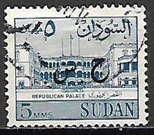 SOUDAN   -   Timbre De Service  -   Palace  Oblitéré,  Surchargé - Soudan (1954-...)