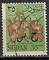SOUDAN   -   Timbre De Service  -   Animaux   Oblitéré,  Surchargé - Soudan (1954-...)