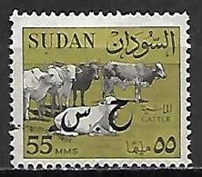 SOUDAN   -   Timbre De Service  -   Vaches, Cattle  Oblitéré,  Surchargé - Soudan (1954-...)