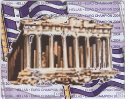 GREECE - HELLAS EURO CHAMPION 2004, Puzzle ''Acropoli'' 2 Cards ,Exhibition In Athens(Parthenon Club), Tirage 500, 07/04 - Griechenland