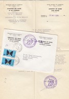LETTRE AVEC CORRESPONDANCE. FULL LETTER. CAMEROUN. 1976. DIRECTION DES MINES ET DE LA GEOLOGIE YAOUNDE - Cameroun (1960-...)