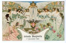 S.A.R.-RE_REALI_Famiglia Reale_ R.UMBERTO-VITT.EMANUELE-JOLANDA MARGHERITA 1 GIUGNO 1901-ORIGINALE 100% - Royal Families