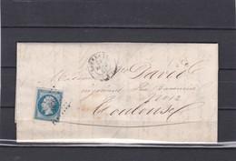 LAVELANET  ( ARIEGE  )  PC 1676   -  LAC + NAPOLEON N° 14B   Pour TOULOUSE  -  24 FEV. 1861 - REF 13712 - 1849-1876: Classic Period