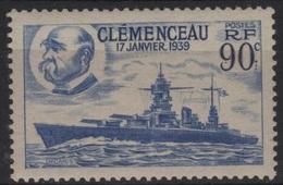 FR 1420 - FRANCE N° 425 Neuf** Cuirassé Clémenceau - France