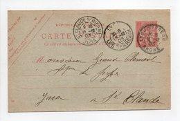 - Carte Postale LYON Pour SAINT-CLAUDE (Jura) 18.12.1903 - 10 C. Rouge Type Mouchon Modifié - - Postales Tipos Y (antes De 1995)