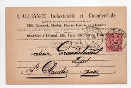 - Carte Postale L'ALLIANCE INDUSTRIELLE & COMMERCIALE, LILLE (Nord) Pour SAINT-CLAUDE (Jura) 4.6.1904 - - Marcofilia (sobres)