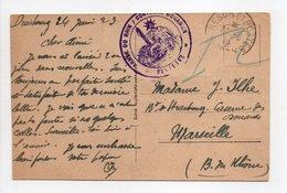- Carte Postale DUISBOURG (Allemagne) Pour MARSEILLE 24.6.1923 - CENSURE ARMÉE DU RHIN - - Postmark Collection (Covers)