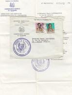 LETTRE AVEC CORRESPONDANCE.  CONGO. COMMISSARIAT GENERAL AU TOURISME KINSHASA - République Démocratique Du Congo (1964-71)
