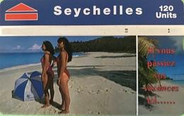 SEYCHELLES  -  Phonecard  - Landys & Gyr  -  Si Vous Passiez Vos Vacances Ici .. -  120 Units - Seychellen