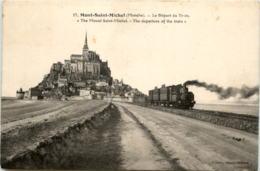 Mont Saint Michel - Le Depart Du Train - Le Mont Saint Michel