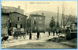 CPA 01 Ain Izieux Place Du Vieux-Creux, Charrette - France