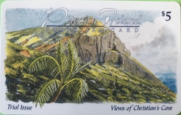 "PITCAIRN ISLAND  -  Phonecard  -  Views Of Christian's Cave ""  $5 - Pitcairn Islands"