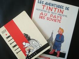 LES AVENTURES DE TINTIN REPORTER AU PETIT VINGTIÈME AU PAYS DES SOVIETS  HERGÉ BANDE DESSINÉE  DE 1999 + CAHIER - Hergé