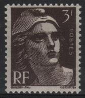 FR 1427 - FRANCE N° 715a Brun Noir Neuf** Marianne De Gandon - 1945-54 Marianne De Gandon