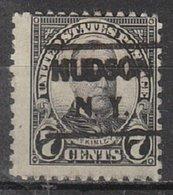 USA Precancel Vorausentwertung Preo, Locals New York, Hudson 639-492 - Vereinigte Staaten
