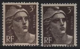 FR 1429 - FRANCE N° 715 + 715a Neufs** Marianne De Gandon - 1945-54 Marianne De Gandon