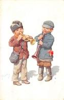 CPA Fantaisie - Illustrateur Karl FEIERTAG - Enfants - Trompette (B.K.W. I. 357-4) - Feiertag, Karl